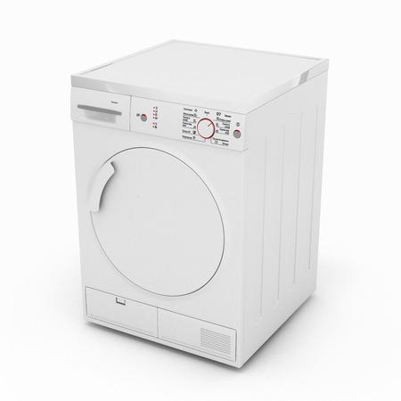 launder: dryer machine isolated  on white background 3d Stock Photo