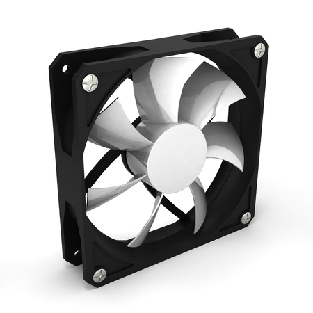 heat sink: computer cooler isolated on white background 3d render