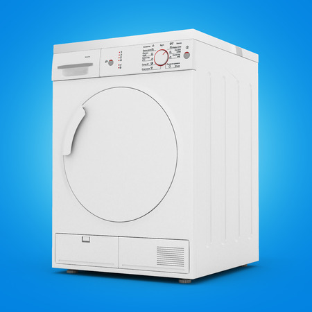 launder: dryer machine isolated on gradient background 3d render Stock Photo