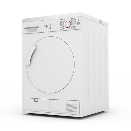 dryer machine isolated on white background 3d render