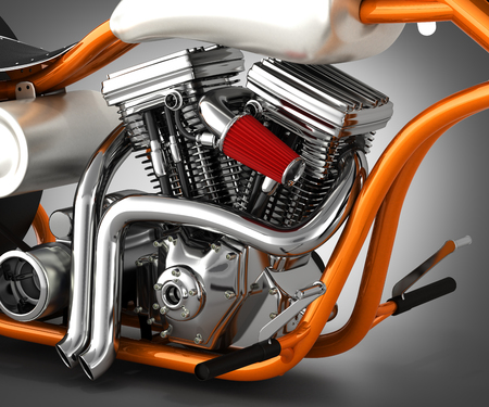 motorcycle background v  Motorcycle Engine V Twin On Grey Gradient Background 3d Render Stock ...