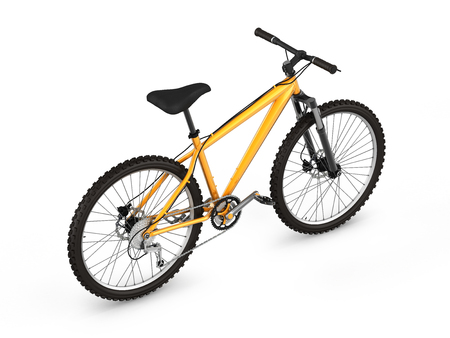 mountain bike isolated on white background 3d render Stock Photo