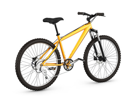 mountain bike isolated on white background 3d