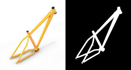 mtb: MTB frame isolated on white backround with alpha 3d render