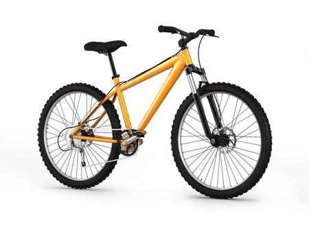 mountain bike isolated on white background 3d illustration