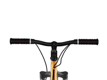 view of the bicycle handlebar on white background 3d render