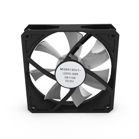 heat sink: computer cooler isolated on white background 3d