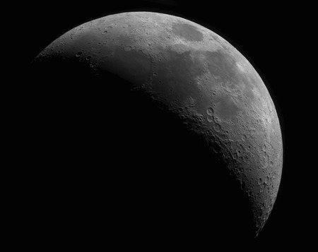 gibbous: Gibbous moon on black background view from space