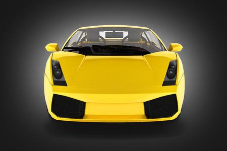 sport car vehicle front view on black gradient background 3d