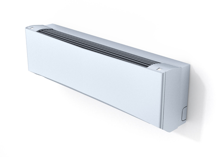 humidifier: Air conditioner on white wall 3d