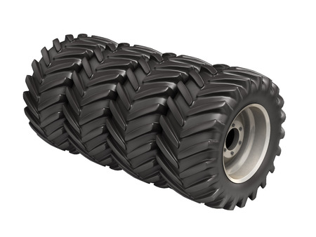 traction: Off-road wheels without shadow on white background 3D