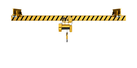 heave: overhead crane isolated on white background 3d