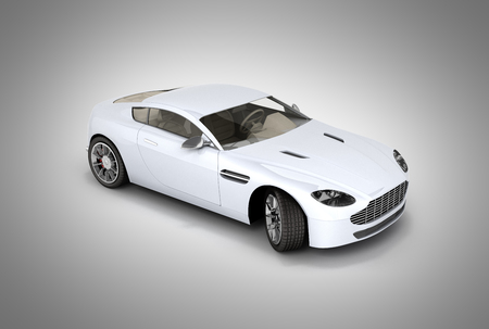 sport car vehicle isolated on grey gradient background 3d