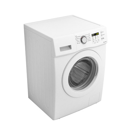 Washing machine without shadow isolated on a white background 3d illustration