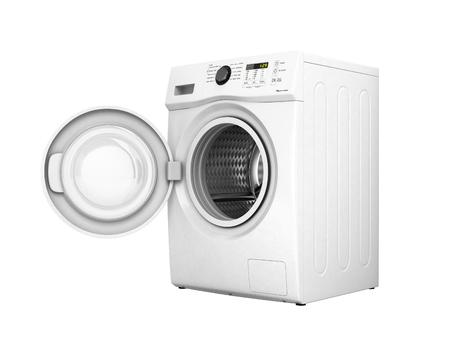 白い背景3Dイラストに影のない開閉機付き洗濯機 写真素材 - 94879175