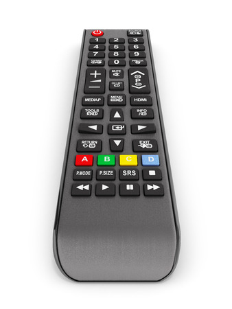 TV Remote control isolated on white background 3d render