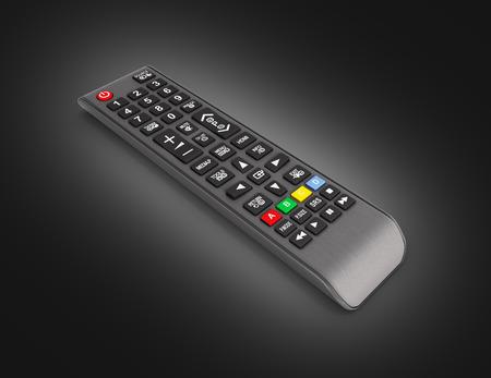 TV Remote control isolated on black gradient background 3d render 版權商用圖片