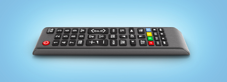 TV Remote control isolated on blue gradeint background 3d render
