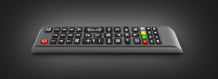 TV Remote control isolated on black gradeint background 3d render 版權商用圖片