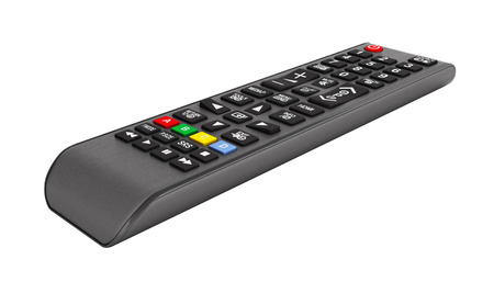 TV Remote control isolated on white background 3d render without shadow 版權商用圖片