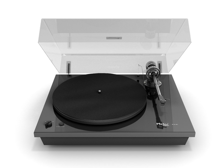 Vinyl turntable player isolated on white background 3d