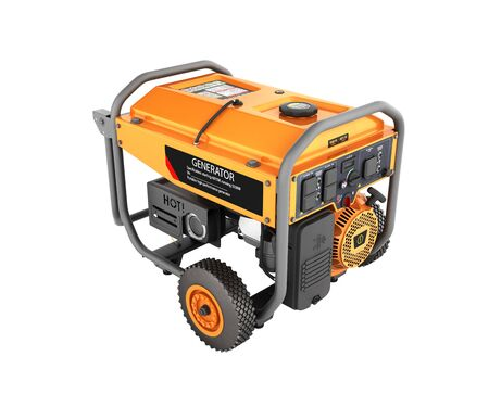 Portable gasoline generator isolated on a white background 3d render without shadow