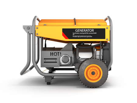 Portable gasoline generator isolated on a white background 3d render Фото со стока - 150639787