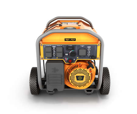 Portable gasoline generator isolated on a white background 3d render
