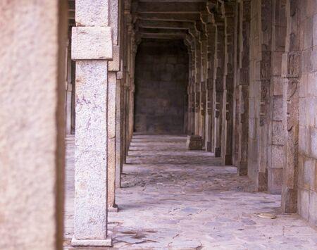 summer afternoon hallways near Qutab Minhar
