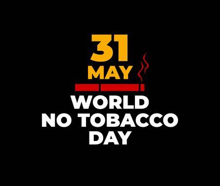 World No Tobacco Day flat design vector illustration Ilustración de vector