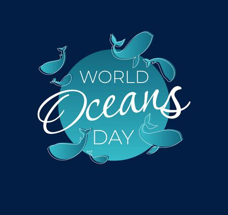 World Ocean Day Vector Illustration. Suitable for poster, banner, campaign, and greeting card..