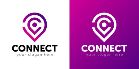 Abstract Connect logo. Technology, Connection logo. Vector illustration.