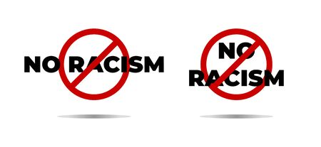 Anti racism campaign and tolerance isolated icon color palms vector equality principle solidarity and respect no racial discrimination nationality and ethnicity charity fund or organization action