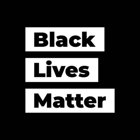 Black Lives Matter vector lettering design element
