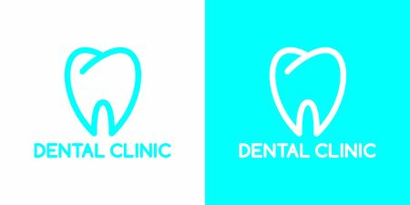 Dental Care Clinic. Dentist   design. Creative vector for dentist clinic with abstract tooth and word dental. Vettoriali
