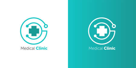 pharmacy cross and Heartbeat electrocardiograph icon vector