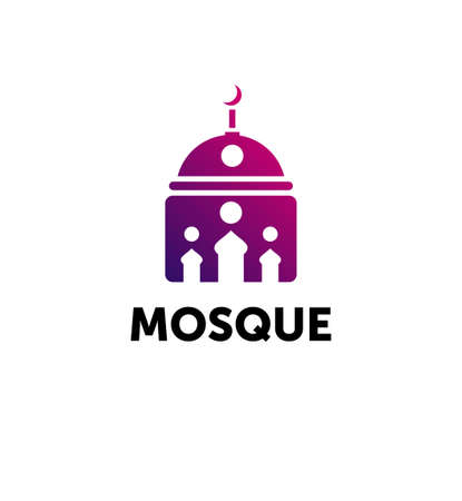 mosque. dome of the mosque abstract symbol.