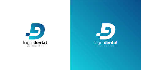 Dental logo design template. letter d creative symbol. Dental clinic vector icon.