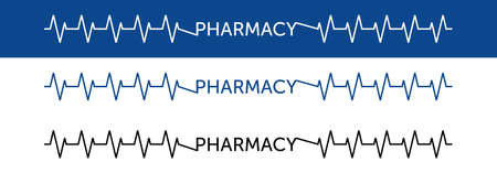 abstract pharmacy template. heartbeat vector design. pharmacy