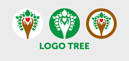 people tree icon with green leaves - eco concept vector. This graphic also represents environmental protection, nature conservation, eco friendly, renewable, sustainability, nature loving