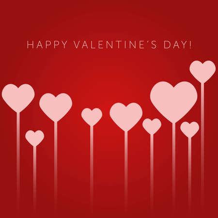 Valentines day background with hearts. Vector illustration Illusztráció
