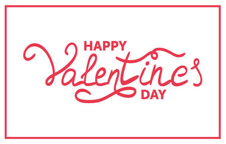 Happy Valentines Day Typographical Hand Drawn Background