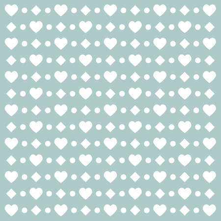 Happy Valentines day card hearts light vector background