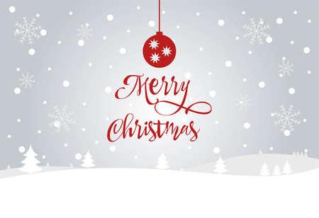 merry christmas red hand lettering inscription to winter holiday design, calligraphy vector illustration Vektorgrafik