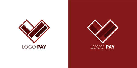 Payment service vector logo design template. Easy Pay concept icon. credit cards arrow sign. Virtual Electronic money symbol. Flat creative logotype.
