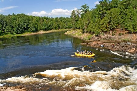 rafting, white river ontario canada