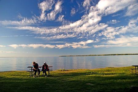 simcoe lake evening, ontario