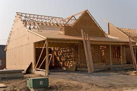 tablaroca: construcci�n 03 a�o 2005 ashawa  Foto de archivo