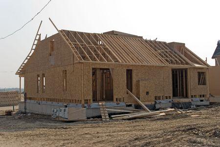 roof framing: construction 06 oshawa Stock Photo