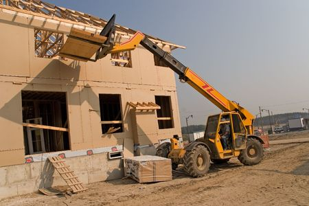 prefabricated buildings: Construcci�n 07 Oshawa  Foto de archivo